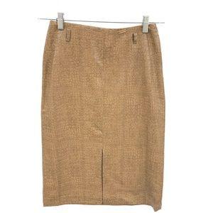 AXARA Snakeskin Pencil Skirt